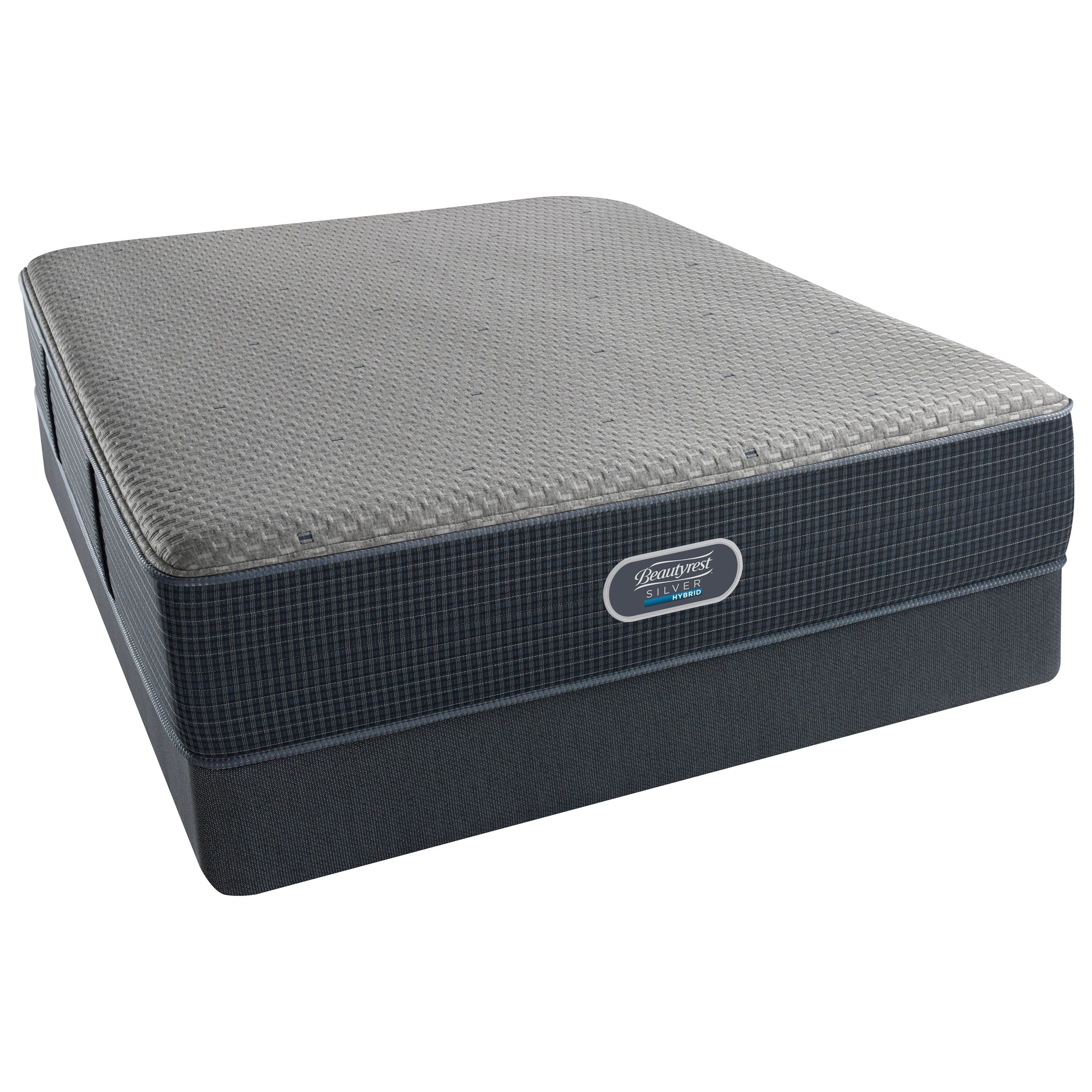 Beautyrest Silver Hybrid Austin Reef Plush Twin Low Profile Set - Item Number: 700601001-1010+700150470-6010