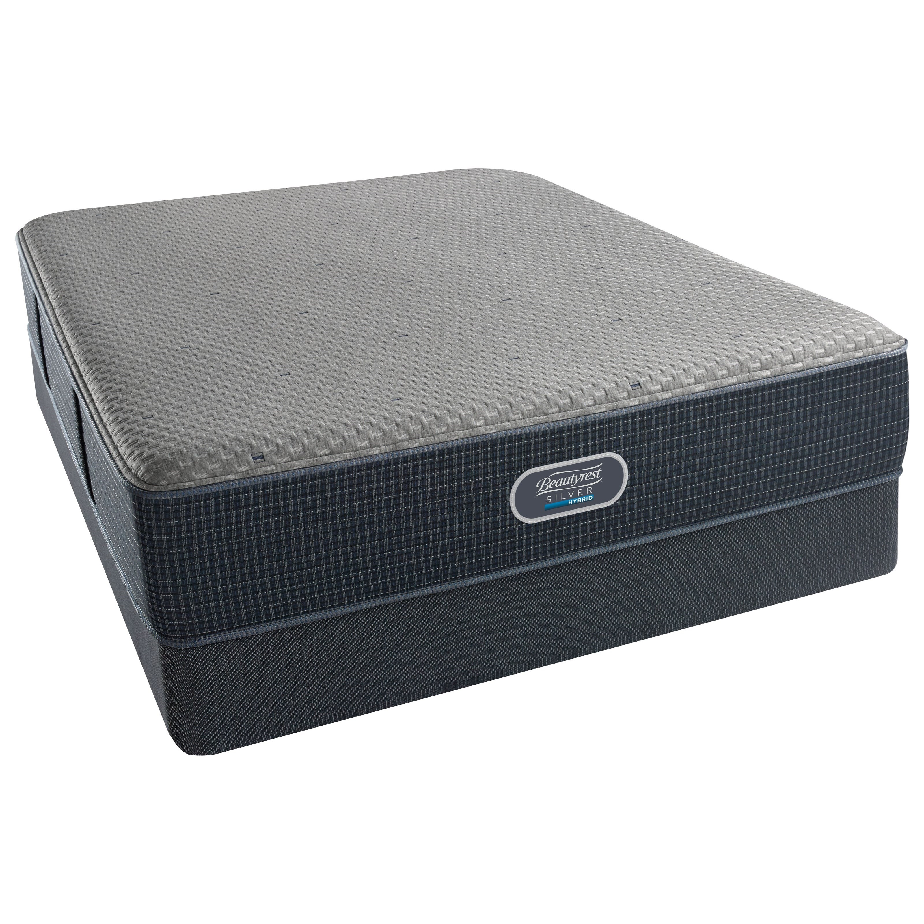 Beautyrest Silver Hybrid Beachwood Luxury Firm Beautyrest Silver Twin Low Profile Set - Item Number: 700601000-1010+700600254-6010