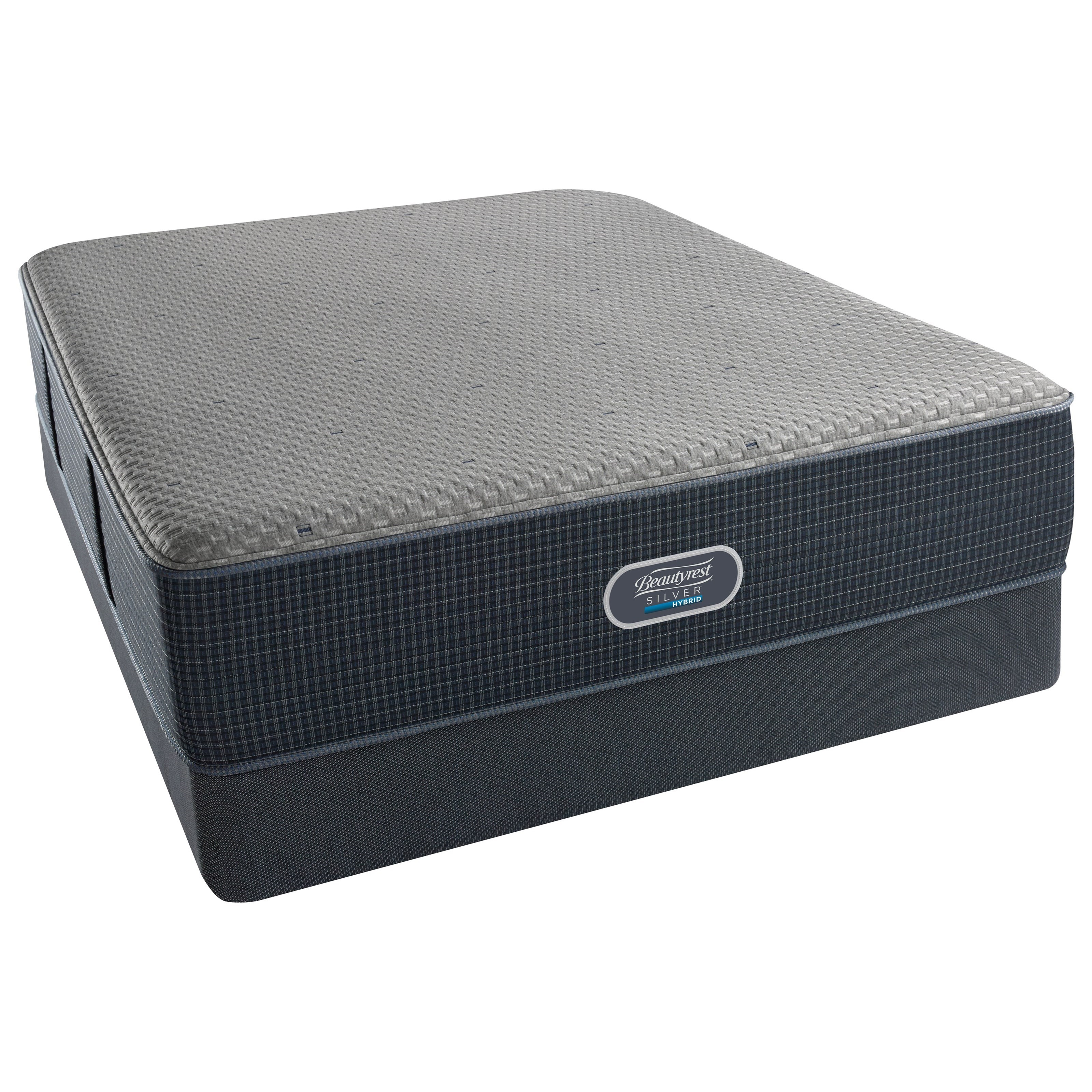 Beautyrest Silver Hybrid Harbour Beach Luxury Firm King Low Profile Set - Item Number: 700601004-1060+2x700600254-6020