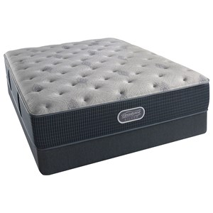 "Simmons BR Silver Lvl 2 Charcoal Coast Luxury Firm Twin 13.5"" Luxury Firm Mattress Set"