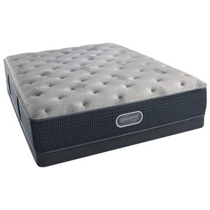 Beautyrest Silver Charcoal Coast Plush Queen Low Profile Set