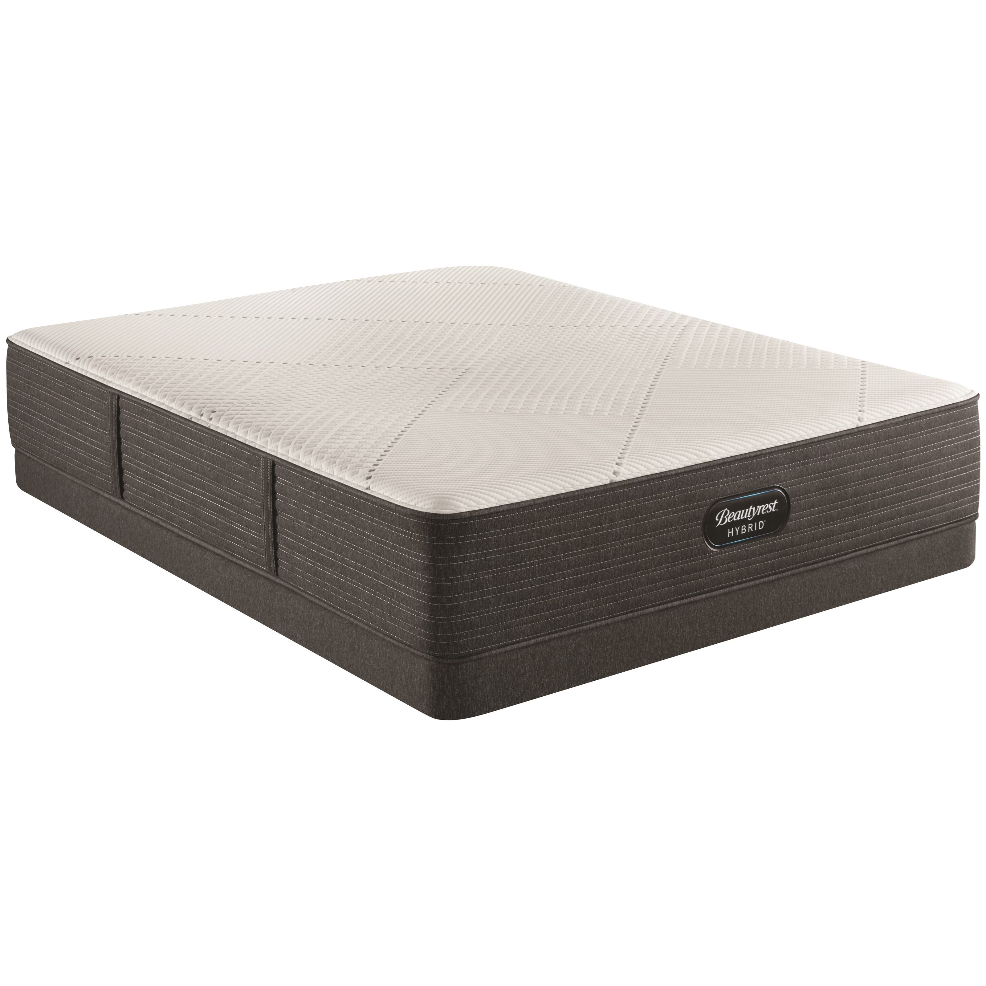 "BRX1000-IP Plush Hybrid Queen 13 1/2"" Hybrid Low Profile Set by Beautyrest at SlumberWorld"