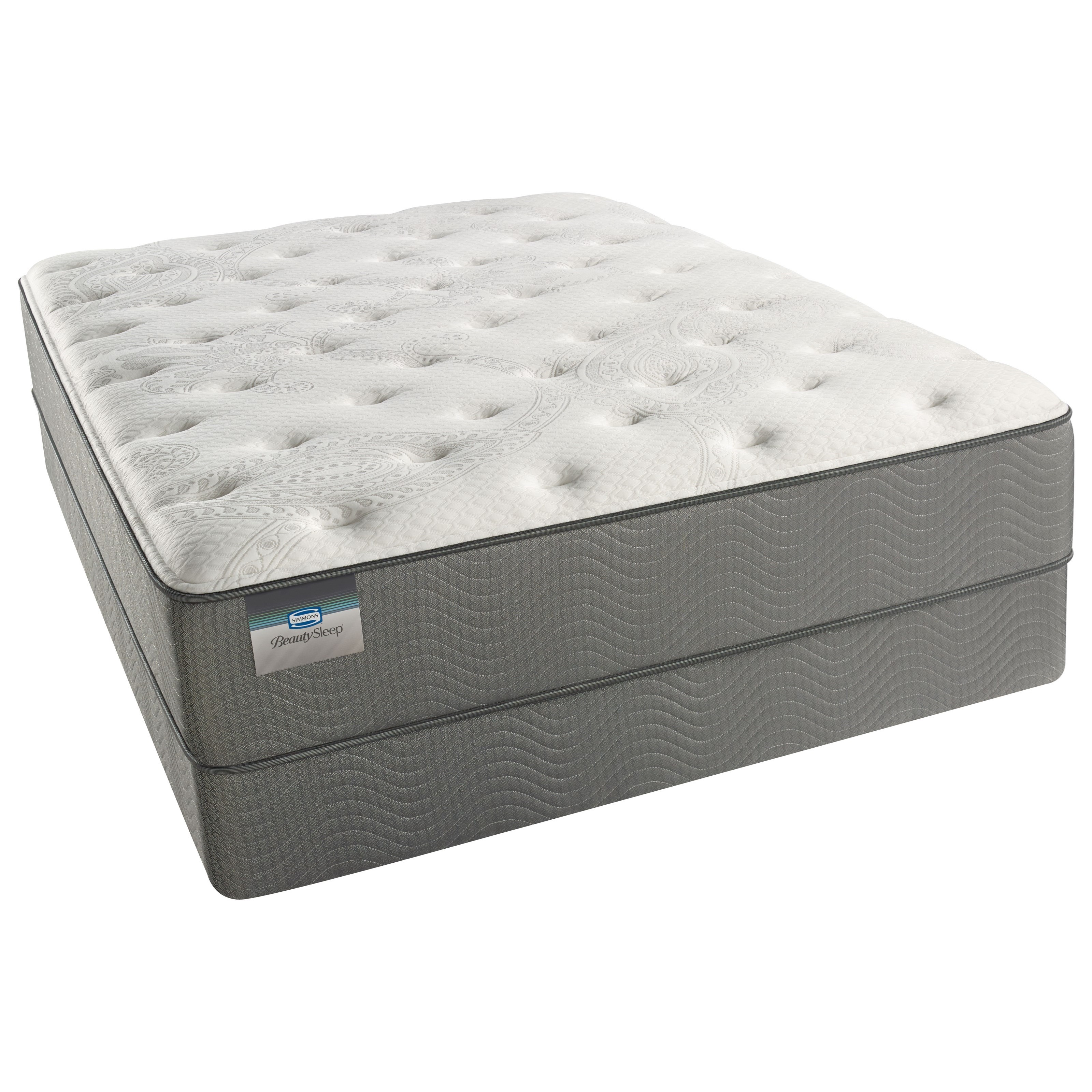 Beautyrest Beautysleep White Pass Luxury Firm  Queen Set - Item Number: 700600210-1050+700600212-5050