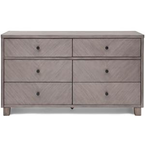 Simmons Kids Chevron Dresser with 6 Drawers