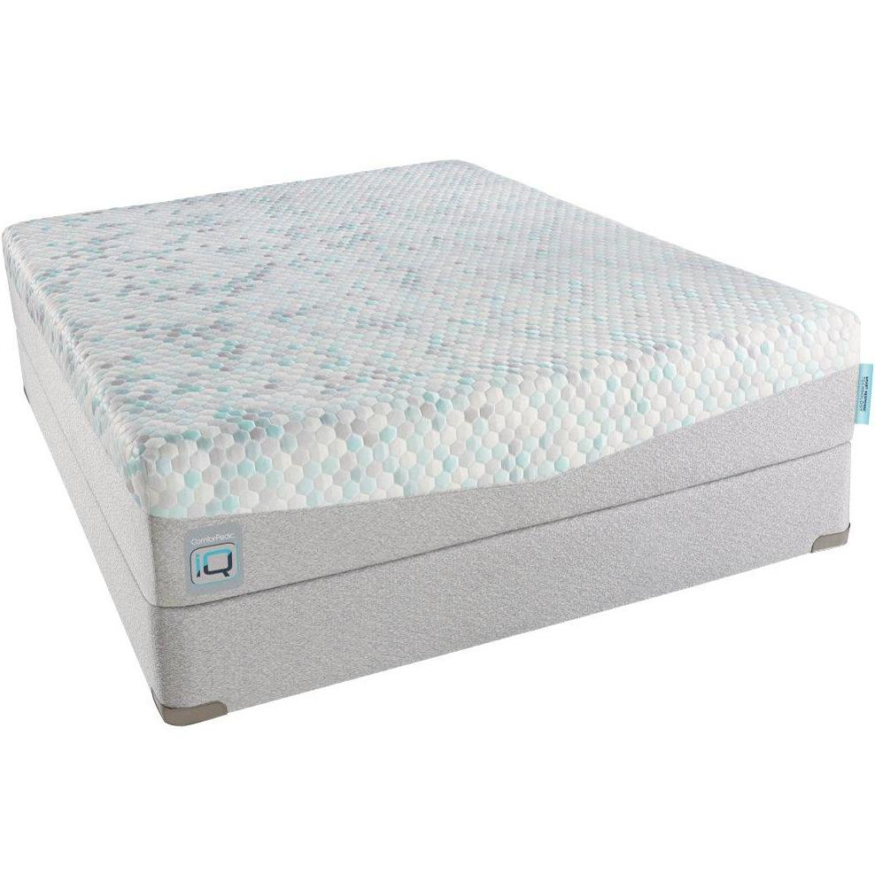 Simmons Cpiq180 Lf Queen Luxury Firm Mattress And Foundation Becker Furniture World Matt
