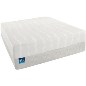 Simmons Curv - All The Rage Queen Plush Firm Mattress and Foundation Set