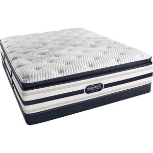Simmons BR Recharge Ultra Platinum Erin Queen Plush Pillow Top Mattress Set, LP