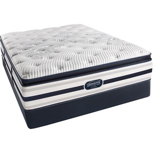 Simmons BR Recharge Ultra Platinum Erin Queen Plush Pillow Top Mattress Set, HP