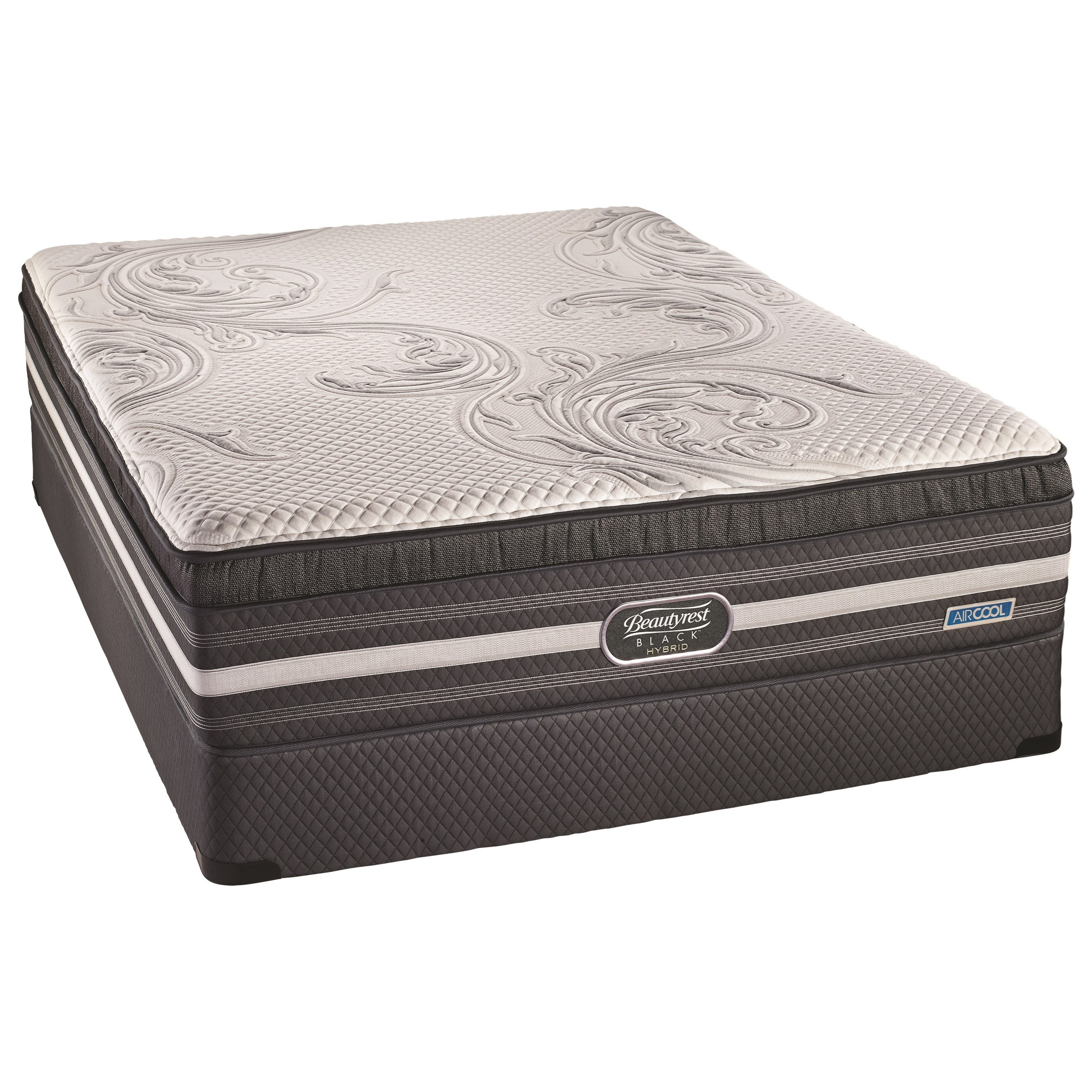 BR Black Hybrid Williams CT Plush Queen Comfort Top Plush Hybrid Mattress Set by Beautyrest Canada at Jordan's Home Furnishings