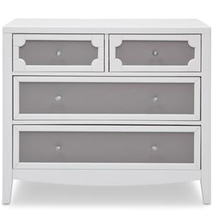 Simmons Kids Hollywood Dresser with 4 Drawers and Raised Moldings