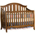 Simmons Kids New London Crib 'N' More With Toddler Guard Rail - Configured As A Standard Crib