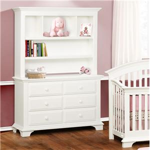 Simmons Kids Santiago 6 Drawer Dresser And Hutch Combo