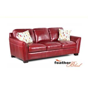 Simon Li Midtown-Red Stationary Leather Sofa