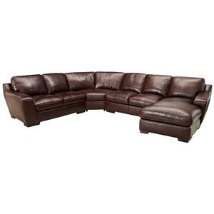 Simon Li 6948 Corner Sectional Sofa with Chaise