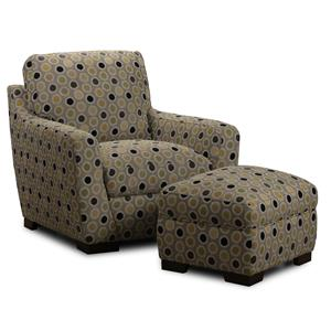Fabric Accent Chair & Ottoman