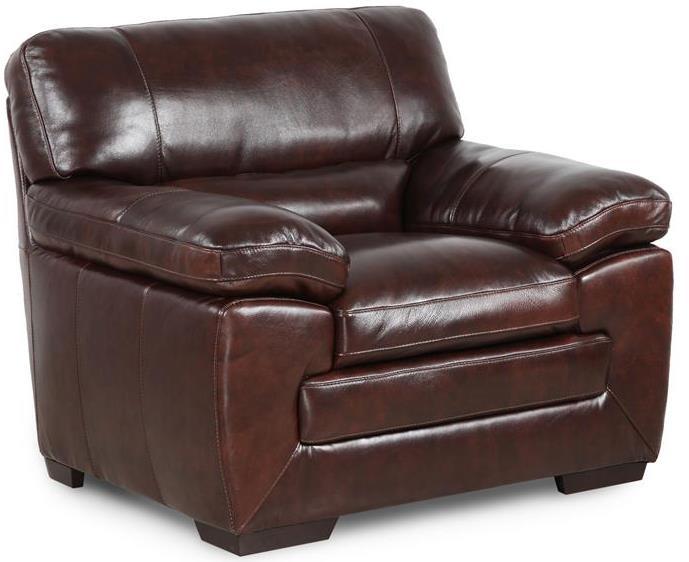 Simon Li Biscayne Longhorn Black Oak Leather Chair - Item Number: 6983103HTX0C4R