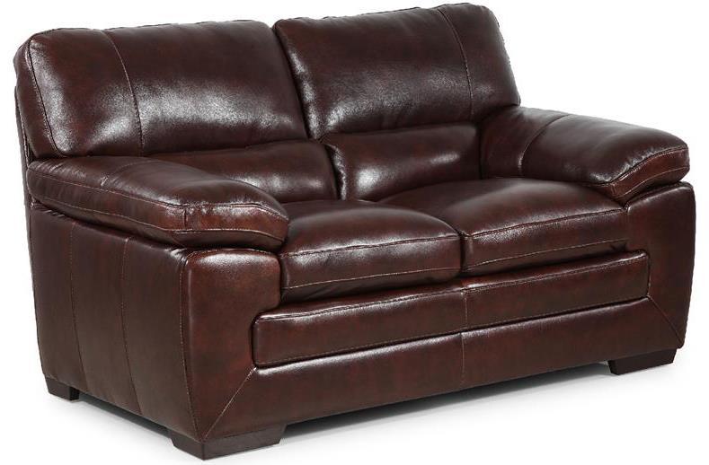 Simon Li Biscayne Longhorn Black Oak Leather Loveseat - Item Number: 6983203HTX0C4R