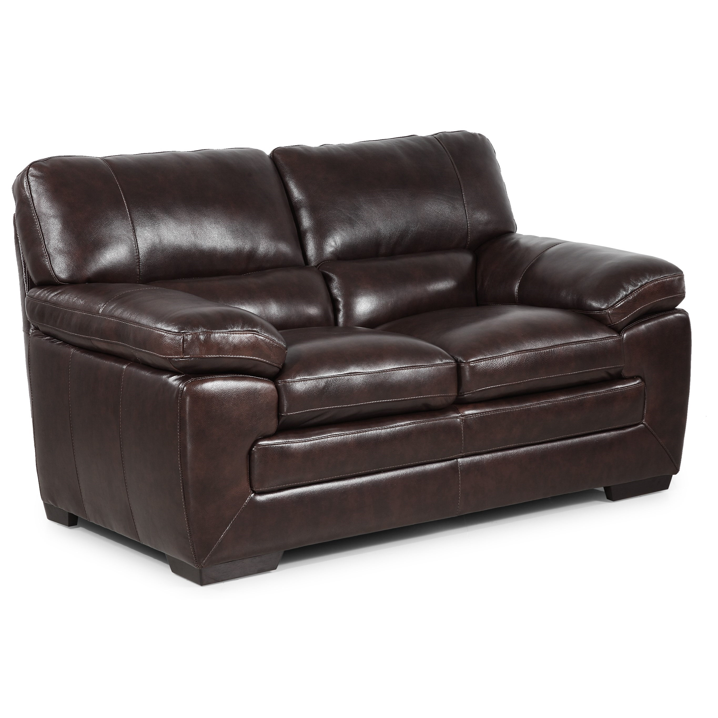 Simon Li Biscayne Longhorn Black Oak Leather Loveseat Great