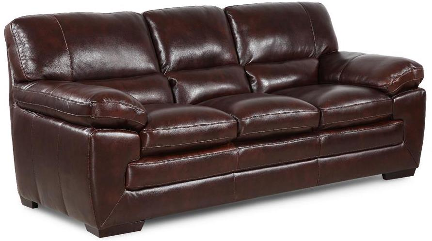 Simon Li Biscayne Longhorn Black Oak Leather Sofa - Item Number: 6983303HTX0C4R