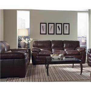 Simon Li Biscayne Longhorn Black Oak Leather Sofa U0026 Loveseat