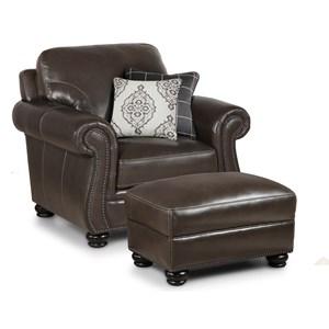 Simon Li H044 Chair with 2 Pillows & Ottoman