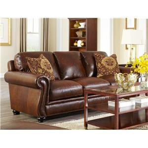 Simon Li Charleston Traditional Leather Sofa