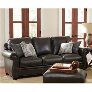 Simon Li Charleston Traditional Leather Sofa