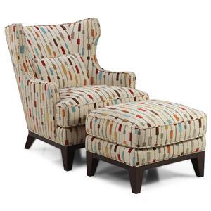 Simon Li Ricard Accent Chair and Ottoman