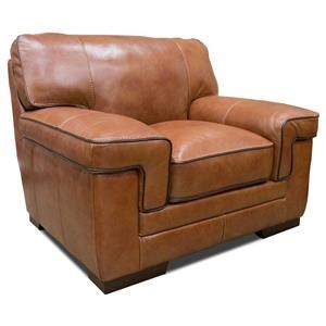 Simon Li Stampede Chestnut Leather Chair