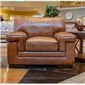 Simon Li Stampede Chestnut Leather Chair - Item Number: J310-010-STAMPEDE-CHESTNUT-SP0K-65-