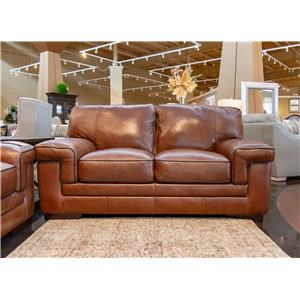 Chestnut Leather Loveseat