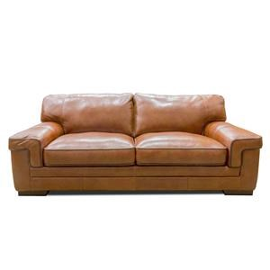 Simon Li Stampede Chestnut Leather Sofa