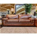 Simon Li Stampede Chestnut Leather Sofa - Item Number: J310-070-STAMPEDE-CHESTNUT-SP0K-65-