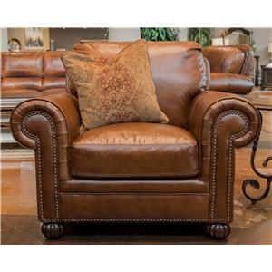 Simon Li Saint James Tobacco Leather Chair