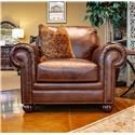 Simon Li St. James Tobacco Leather Chair - Item Number: J398-10 SJOE 651D 63LO