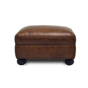 Simon Li Saint Charles Bourbon Leather Ottoman