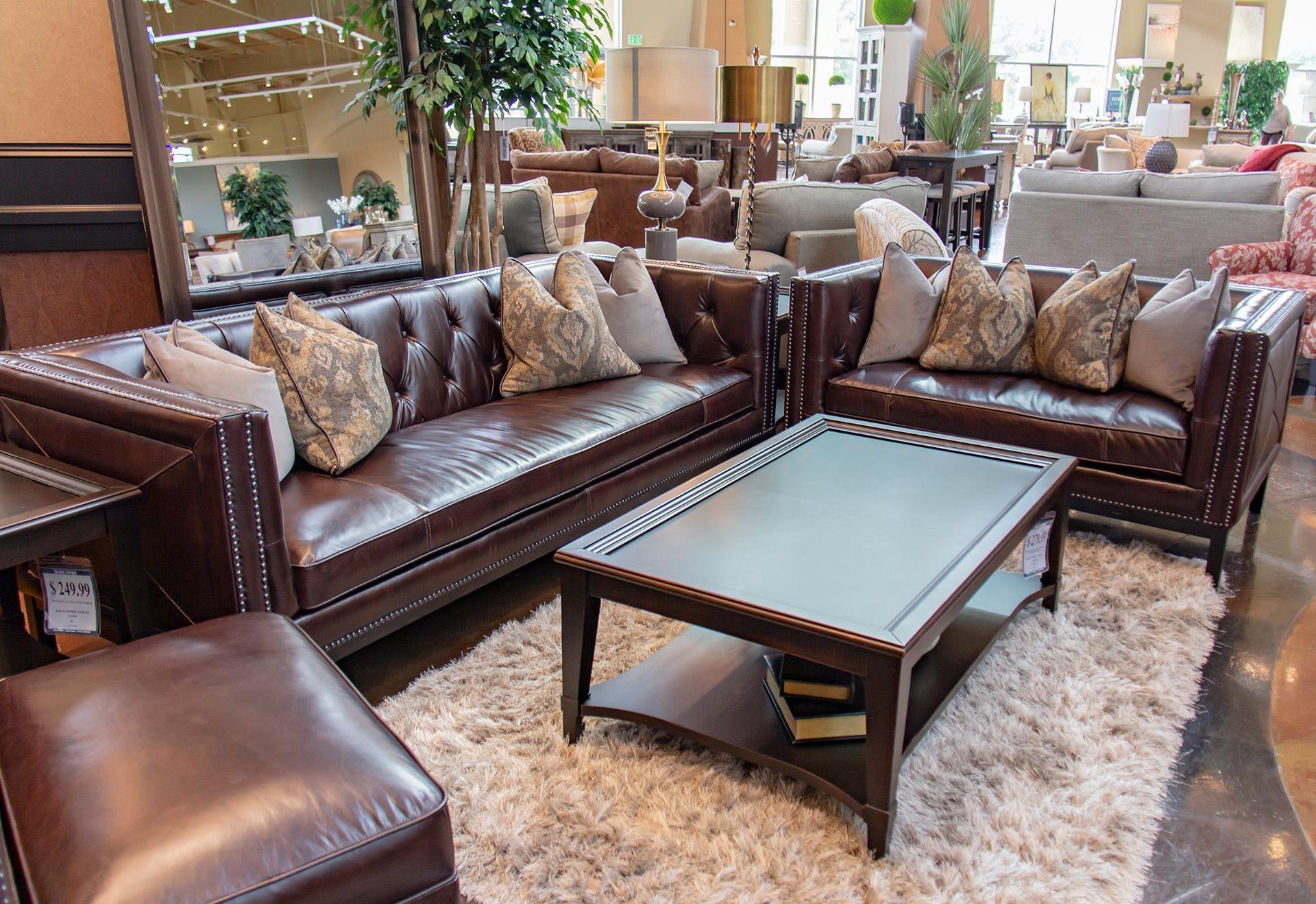 Simon Li Manhattan Cordovan Leather Sofa & Loveseat - Item Number: GRP-J483-SL