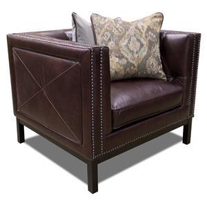 Simon Li Manhattan Leather Chair in St. James Cordovan