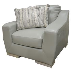 Simon Li Bowie Cement Leather Chair