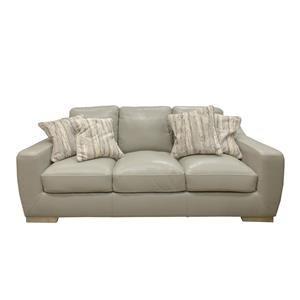 Simon Li Bowie Cement Leather Sofa