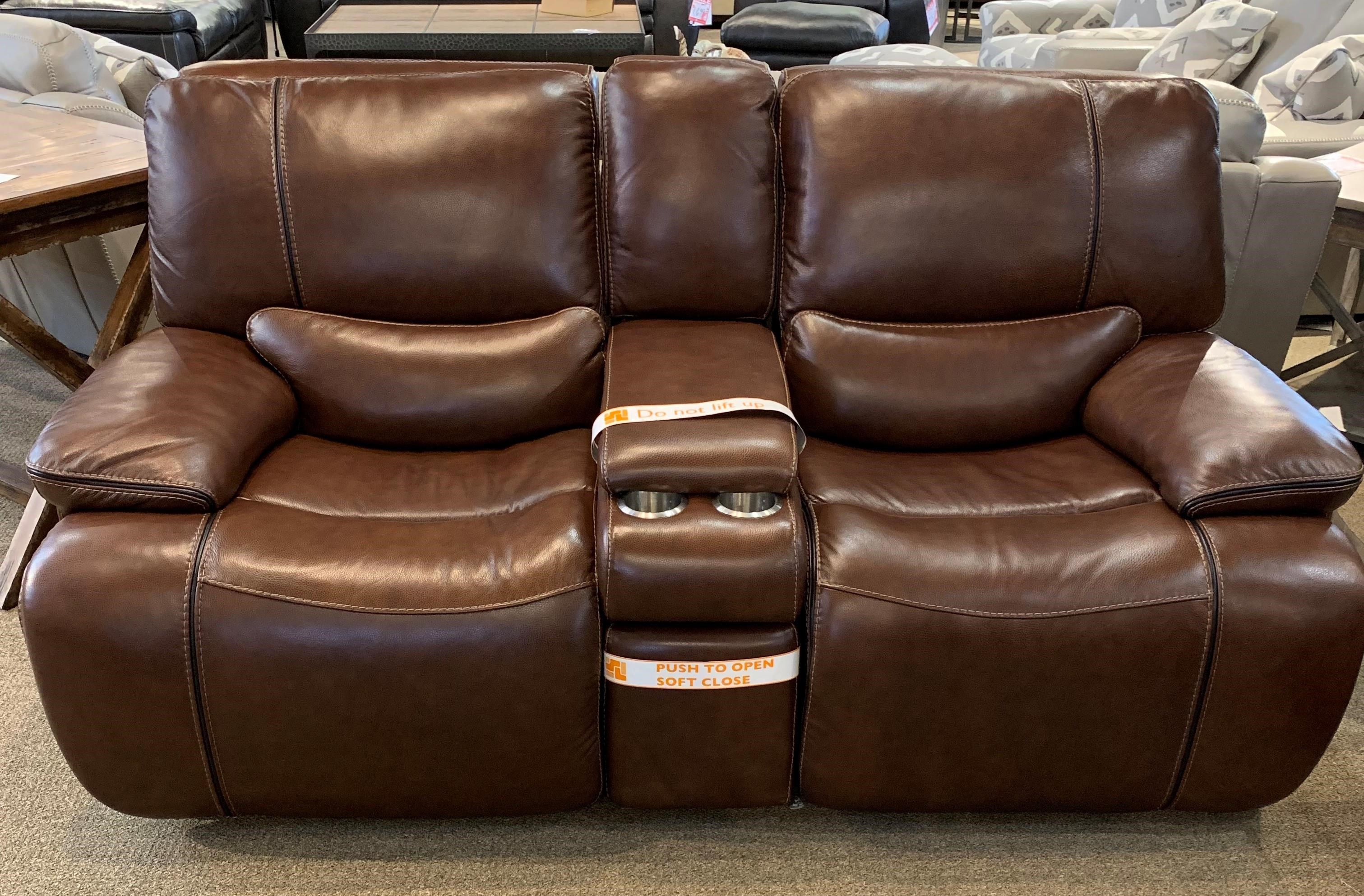 Simon Li Longhorn Longhorn Reclining Leather Loveseat Howell