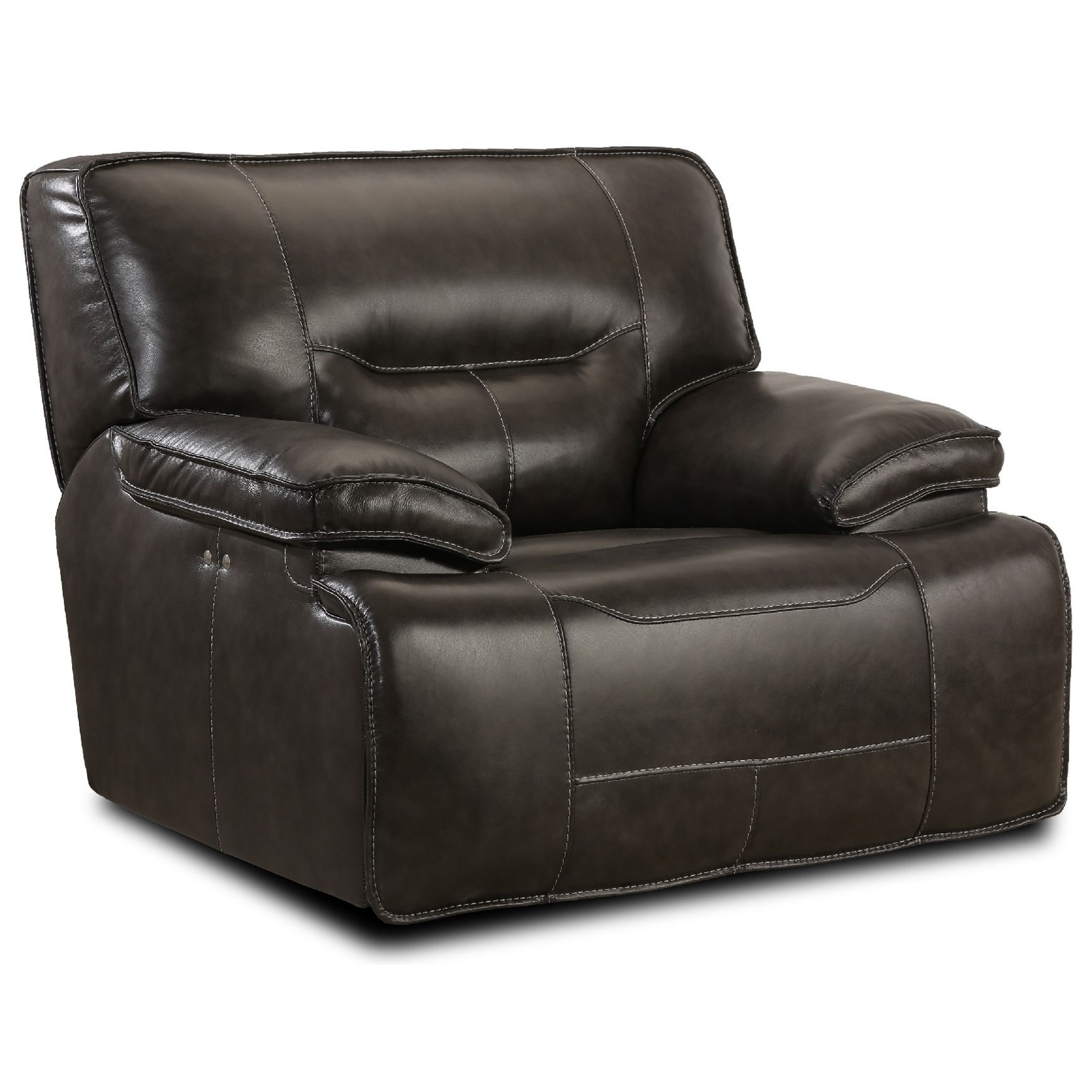 Simon Li Motion Max Leather Match Power Recliner Sadler