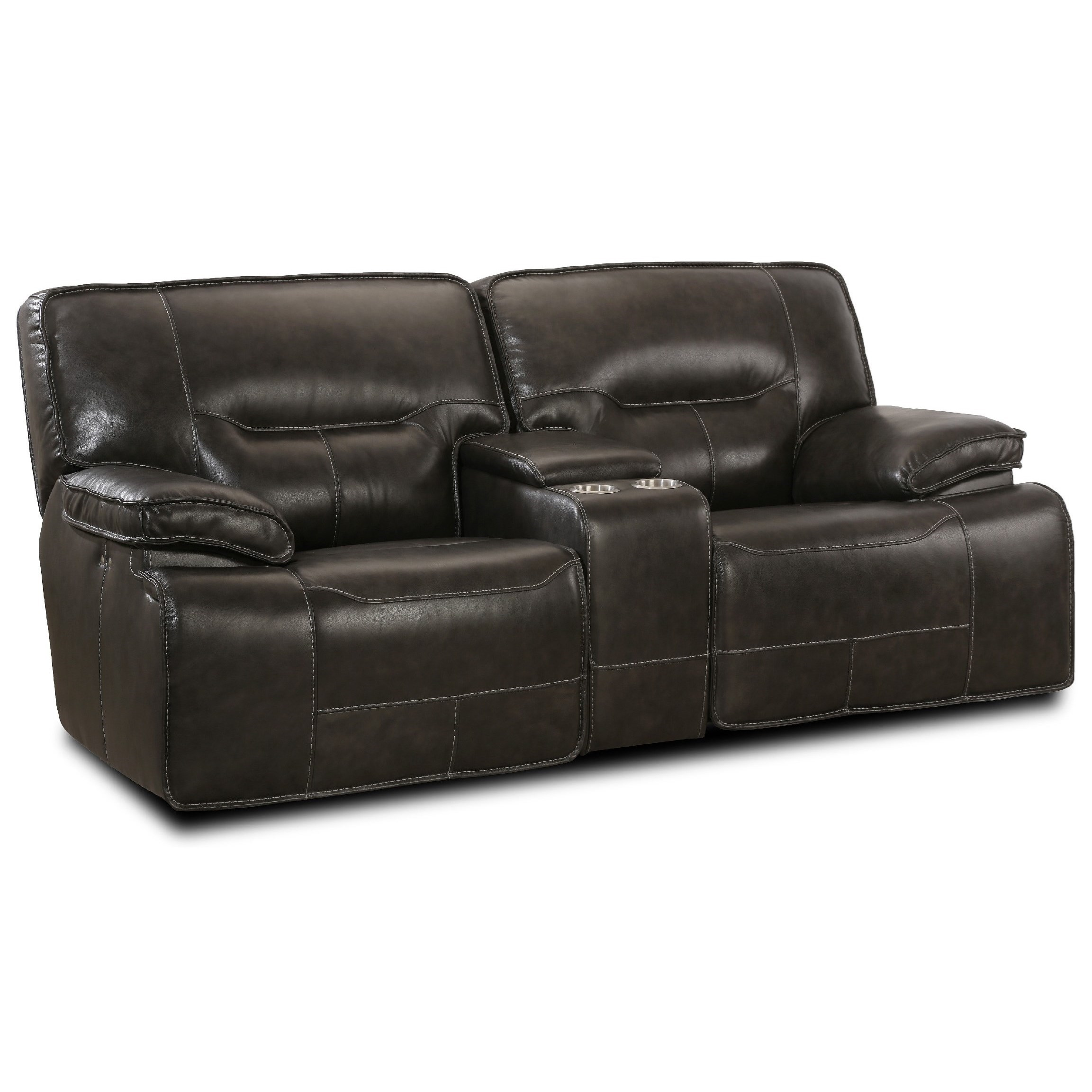 Simon Li Motion Max Leather Match Power Glider Loveseat