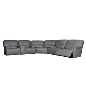 Leathermatch Reclining Sectional