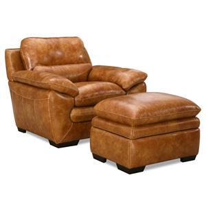 Simon Li 6979 Chair & Ottoman