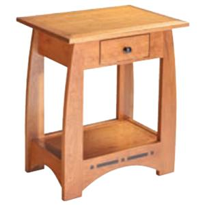 Simply Amish Aspen Bedside Table with Drawer