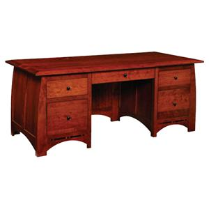 Simply Amish Aspen Executive Desk
