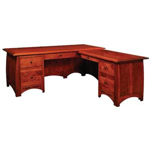Simply Amish Aspen L-Shape Desk