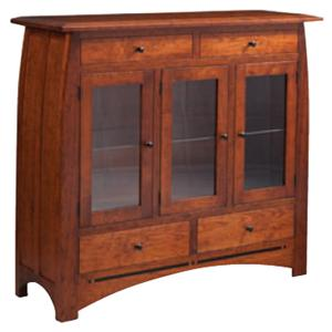 Simply Amish Aspen Dining Cabinet with Glass Doors