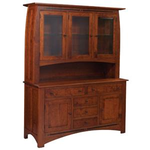 Simply Amish Aspen 3-Door Open Hutch